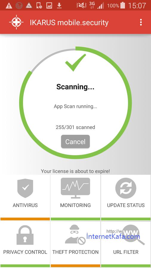 Ikarus TestVirus ile Android'de antivirus uygulamasını test edin