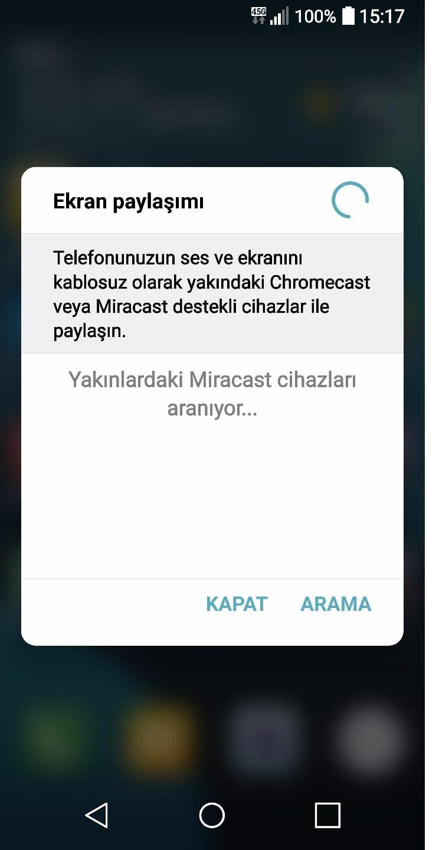 telefon ekran paylasımı